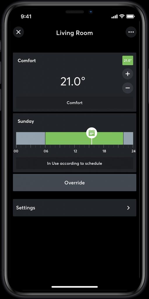 Loxone app - heating